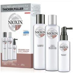 Witte NIOXIN Noixin 3D Verzorgingssysteem Kit 3 (voor gekleurd, licht dunner wordend haar)