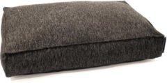 Antraciet-grijze Wooff Matraskussen Nano Antraciet - Hondenmatras - 110x70x18 cm