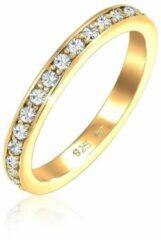 Elli Dames Ringen Dames Glamoureus Sprankelend met Swarovski®-kristallen in Roségoud verguld 925 Sterling Zilver