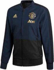 Donkerblauwe Adidas Manchester United Presentatiejack - Jassen - blauw donker - S