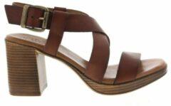 Red Rag 79364 leren sandalettes bruin