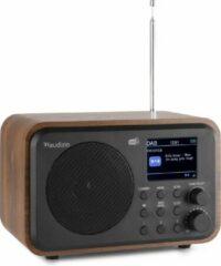 Draagbare DAB radio met Bluetooth - Audizio Milan retro radio met sleeptimer, ingebouwde accu en FM radio - Hout