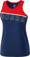 Marineblauwe Erima 5-C Tanktop Girls - Navy - maat 128