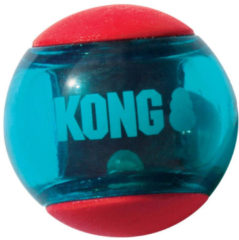 Kong Squeezz Action Rood - Hondenspeelgoed - Medium