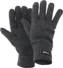 Antraciet-grijze Gloves&Co Thinsulate gebreide handschoen - heren - grijs - maat L