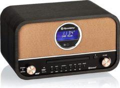 Roadstar DAB+ Retro Radio & CD Speler - Zwart - met Bluetooth