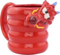 Disney mok Mulan- Mushu 300 ml kermiek 400 gram rood