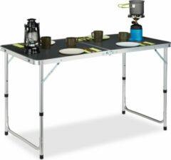 Zilveren Relaxdays campingtafel inklapbaar - camping klaptafel - aluminium vouwtafel - koffermodel