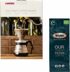 Hario V60 slow coffee kit + Bristot OUR Biologische Filter Koffie