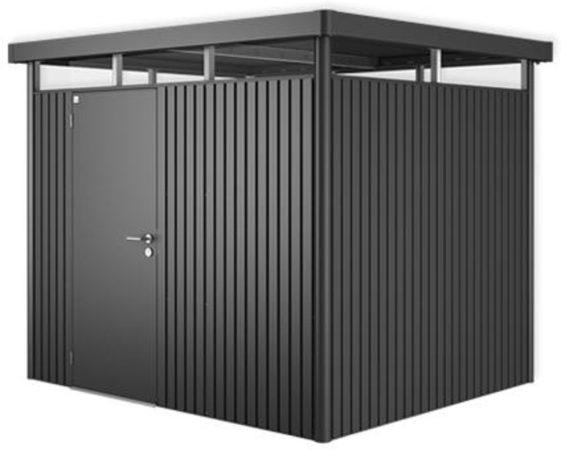 Afbeelding van Grijze Biohort Highline H3 donkergrijs metallic 1 deurs - 275 x 235 x 222 cm