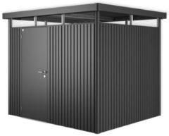 Grijze Biohort Highline H3 donkergrijs metallic 1 deurs - 275 x 235 x 222 cm