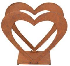 Holzregal aus Eisen Herz Möbel-Direkt-Online braun