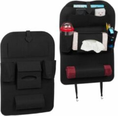 Zwarte Relaxdays 2 x autostoel organizer - auto organizer kind - groot - bescherming stoel