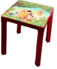Paradiso Toys kindertafel Jungle 46 cm rood