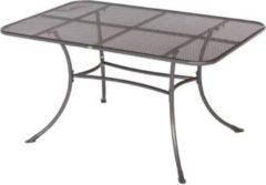 Gardenhome Streckmetall Tisch BAKI Gartentisch mit stabilem Rundrohrgestell, eisengrau, ca. 145x90cm