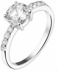 Huiscollectie Zilver Gerhodineerde Ring zirkonia 15.00 mm (47)