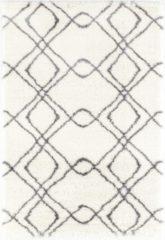 Impression Rugs Pearl Vloerkleed Wit / Grijs Hoogpolig - 160x230 CM