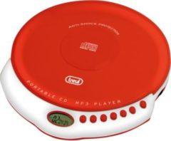 Trevi CMP 498 portabler CD-Player mit MP3 - rot