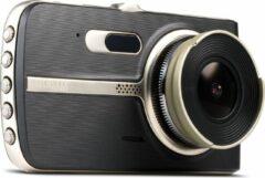 Zwarte Technaxx TX-167 - Dashboardcamera met rijhulpsystemen - Dashcam met display en rijhulp