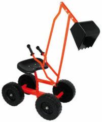 Oranje Small Foot Graafmachine Met Wielen 104 X 33 X 58 cm