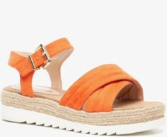 Scapino Blue Box plateau sandalen oranje