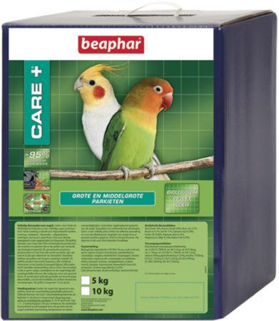Afbeelding van Beaphar Care+ voor grote en middelgrote parkieten 500 gr