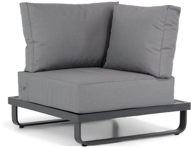 Afbeelding van Antraciet-grijze Lifestyle Garden Furniture Lifestyle Venezia hoek module