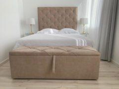 Zandkleurige SleepNext Luxe Boxspring CHIVA - Relax Sand - 160x200cm