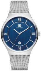 Zilveren Danish Design watches edelstalen herenhorloge Kalsoy Blue Large IQ68Q1240