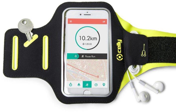 Afbeelding van Celly Armband - Smartphone mobiele telefoon behuizingen 16,5 cm (6.5'') Armband doos Zwart, Geel