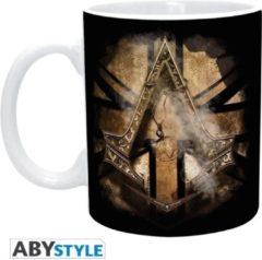 ABYSTYLE ASSASSINS CREED - Mug - 320 ml - Golden Union Jack - subli -with box
