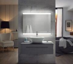 FOCCO Emma LED spiegel 100x70 met twee banen