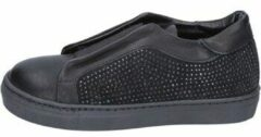Zwarte Instappers Holalà sneakers nero pelle camoscio BT374