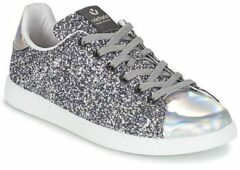 Zilveren Lage Sneakers Victoria DEPORTIVO BASKET GLITTER
