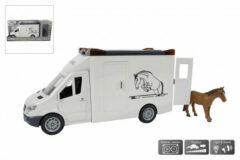 Toys Amsterdam Paardenvrachtwagen Junior 27 Cm Wit 2-delig