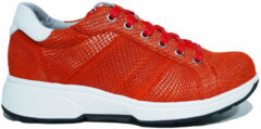 Rode Xsensible 30205 Toulouse Red Lizzard H-Wijdte Veterschoenen