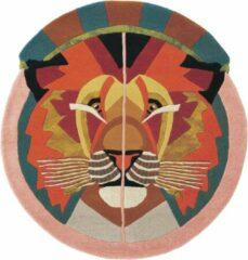Ted Baker - Zodiac Leo 161505 Vloerkleed - 100 cm rond - Rond - Laagpolig, Rond Tapijt - Modern - Meerkleurig