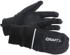 Zwarte Craft Craft Hybrid Weather Glove 1903014 - Handschoenen - Black - Unisex - Maat S