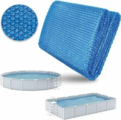 Blauwe Sens Design Afdekzeil Zwembad - Zwembadzeil - solar - rond - Ø 244cm