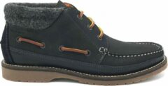 Marineblauwe Gant Hodges - Navy Nubuck Leather Felts - Maat 42
