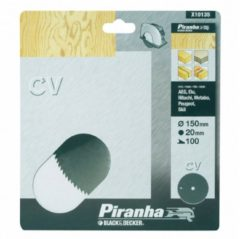 DeWALT BLACK+DECKER Piranha Sägeblatt für Kreissäge, Chrom-Vanadium, 150x20 mm K100 X10135-XJ