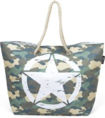Donkergroene Arditex Strandtas Military Junior 56 X 38 Cm Canvas Legergroen