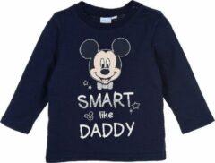 Marineblauwe Disney Mickey Mouse longsleeve Navy maat 68