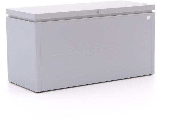 Afbeelding van Biohort tuinkussen opbergbox Lounge 160 zilver 850L 160x70x83,5cm (BxDxH)
