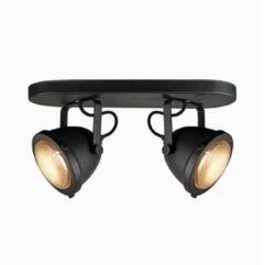 LABEL51 - LED Spot Moto 2-Lichts 35x12x16,3 cm Zwart Metaal