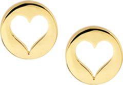 Goudkleurige The Jewelry Collection Oorknoppen Hart - Geelgoud