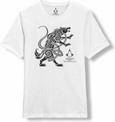 Witte Assassin's Creed Valhalla - Valhalla Wolf T-Shirt XXL