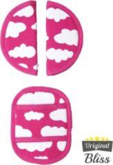 Bliss Gordelbeschermer voor Maxi Cosi met 3 puntsgordel - Wolk Roze