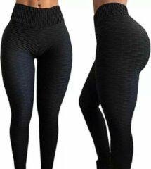 Fitness/Yoga legging - Fitness legging - LOUZIR sport legging Stretch - squat proof - Zwart Maat XXL