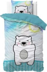 Dreamhouse Bedding Dreamhouse Cuddle Bear - Kinderdekbedovertrek - Eenpersoons - 140x200 + 1 kussensloop 60x70 - Blauw